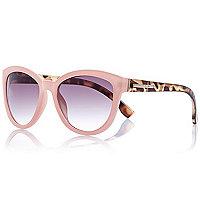 Light pink contrast arm sunglasses