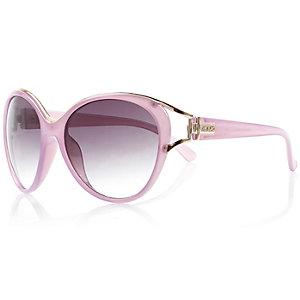 Lilac metal trim sunglasses
