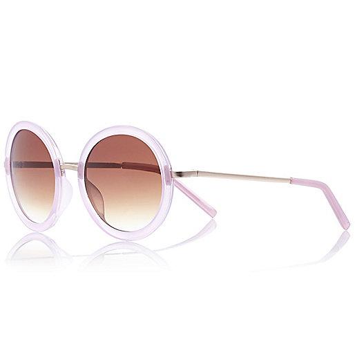Lilac round sunglasses