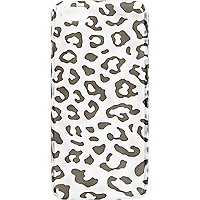 White leopard print iPhone 5 case