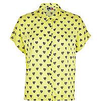 Yellow Chelsea Girl heart print shirt