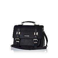 Black large satchel