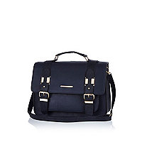 Navy blue large satchel