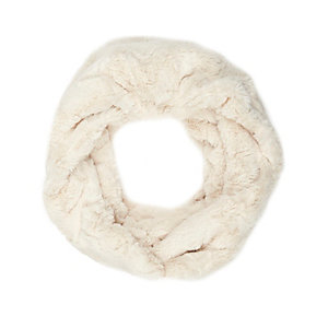 Cream faux fur snood
