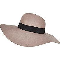 Mink oversized fedora hat