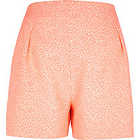 Pink animal jacquard smart shorts