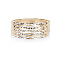 Gold tone diamante encrusted bracelet