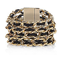 Black woven ribbon gateway bracelet