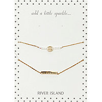 Gold tone cute as a button bracelet pack