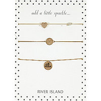 Gold tone coin bracelet pack