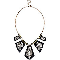 Black encrusted statement necklace