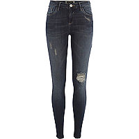 Dark wash ripped Amelie superskinny jeans
