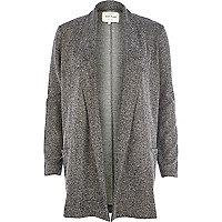 Beige lurex tweed blazer