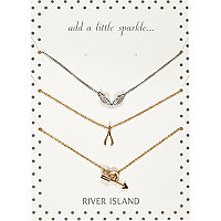 Mixed metal eclectic necklaces pack