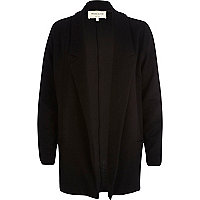 Black textured jersey blazer