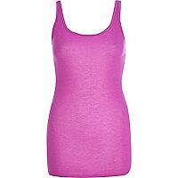Purple scoop neck longline vest