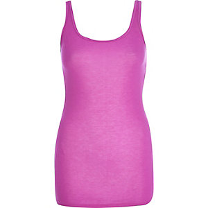 Purple scoop neck longline vest