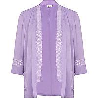 Lilac sequin trim kimono