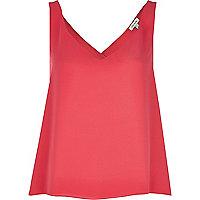 Bright pink wrap back vest