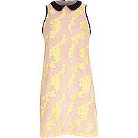 Pink print shift dress