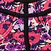 Pink floral mesh insert bustier bikini top