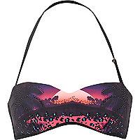 Purple sunset heatseal balconette bikini top