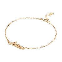Gold tone Aries bracelet