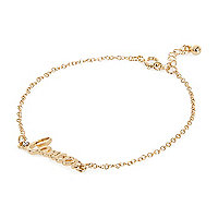 Gold tone Cancer bracelet
