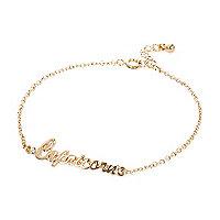 Gold tone Capricorn bracelet