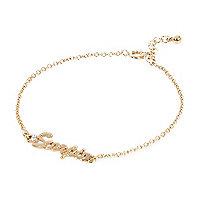 Gold tone Scorpio bracelet