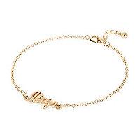 Gold tone Virgo bracelet