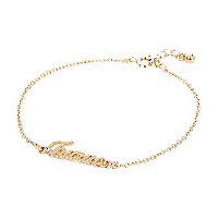 Gold tone Taurus bracelet