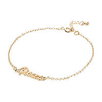 Gold tone Pisces bracelet