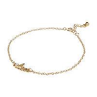 Gold tone Leo bracelet