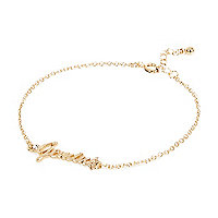 Gold tone Gemini bracelet