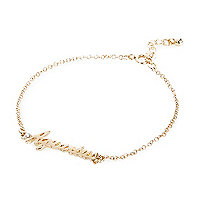 Gold tone Aquarius bracelet