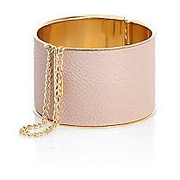 Light pink draped chain bangle