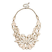 Light pink statement necklace