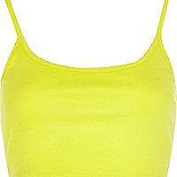 Lime cami crop top