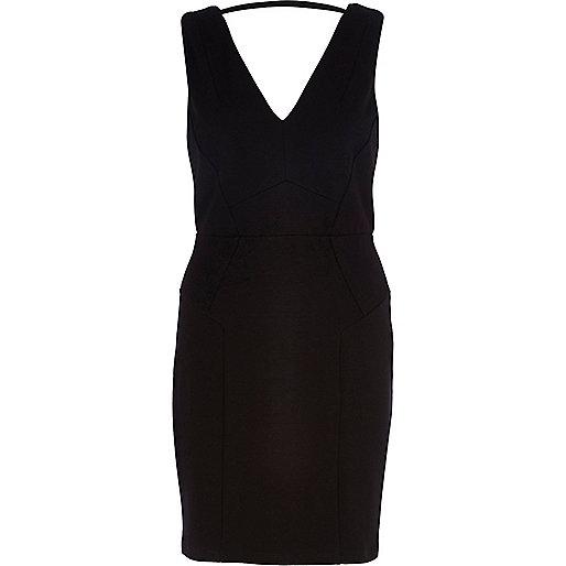 Black backless bodycon dress