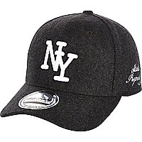 Dark grey marl NY trucker hat