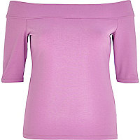 Lilac bardot top