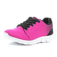 Bright pink runner trainers