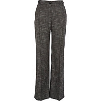 Grey wide leg smart trousers