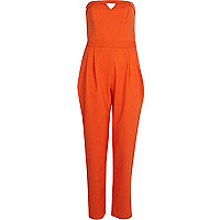 Orange bandeau jumpsuit