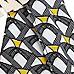 Black geometric print open front maxi dress