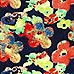 Navy floral print swing dress