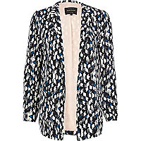 Black abstract print blazer