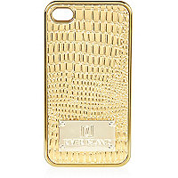 Gold croc embossed iPhone 4 case