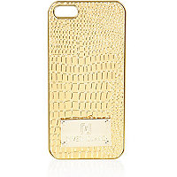 Gold croc embossed iPhone 5 case
